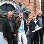 2014 Sint-Niklaas, beeld Van Wilderode (met Paul Rigolle, Bert Bevers en Fleur De Meyer)