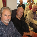 Collega-dichters Paul Rigolle en Frank Pollet, samen met Jan David.